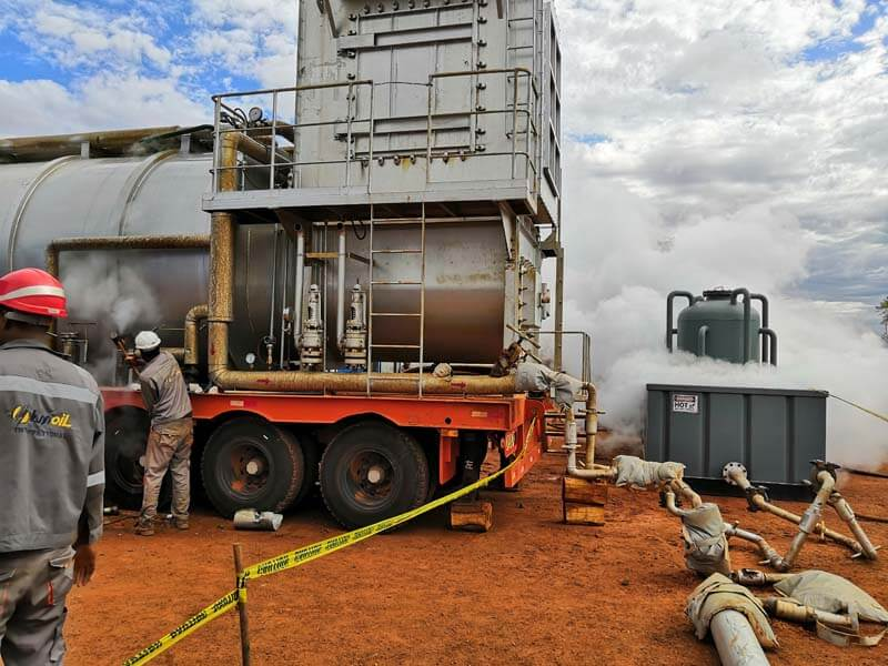 oilfield steam injection site